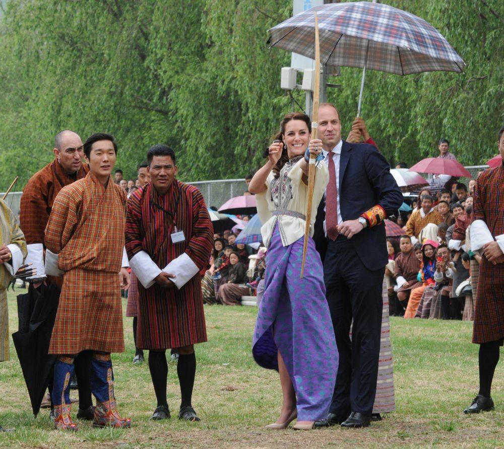 Hertogin Kate sport op hoge hakken Bhutan BSR 2