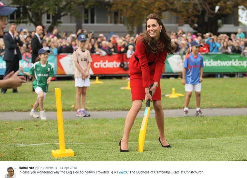 Hertogin Kate sport op hoge hakken Christchurch 2014