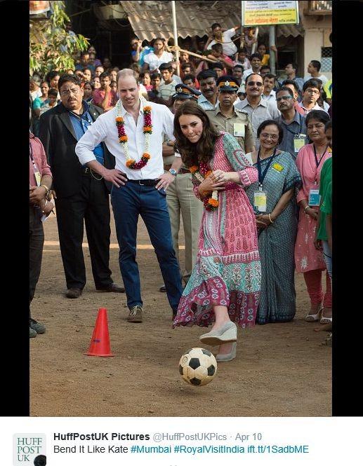 Hertogin Kate sport op hoge hakken Mumbai 2016