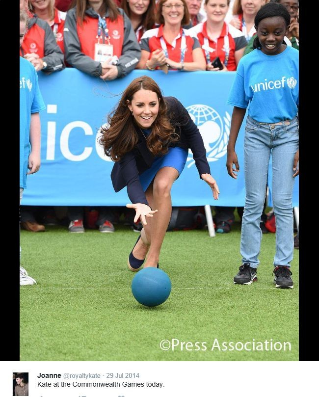 Hertogin Kate sport op hoge hakken Glasgow Games 2014 2