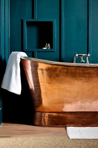 Copper make modern interior design and decorating look rich and stylish