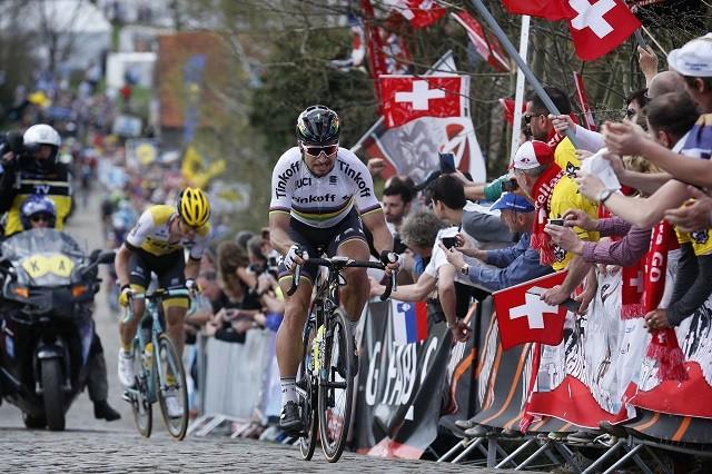 In de 100ste Ronde van Vlaanderen werd Vanmarcke door wereldkampioen Peter Sagan gelost op de Paterberg.